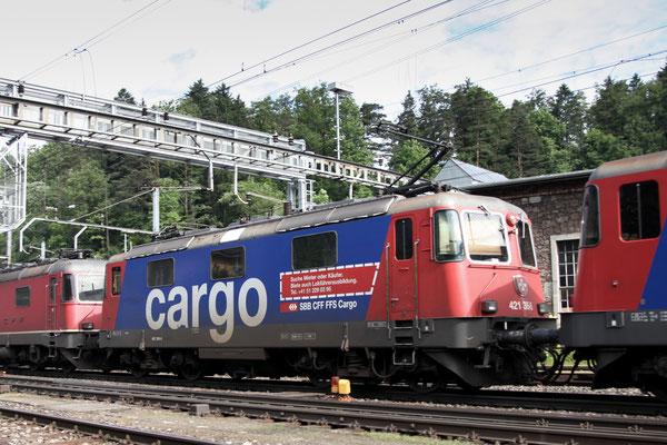 Re 4/4, 11395 (421 395-5 Cargo), Arth-Goldau (15.06.2013) ©pannerrail.com