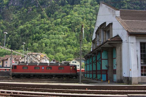 """Re 6/6 11632 """"Däniken"""", Erstfeld (07.05.2011) ©pannerrail.com"""