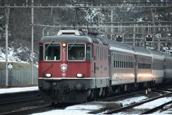 Re 4/4, 11148, Amsteg-Silenen (17.12.2013) ©pannerrail.com