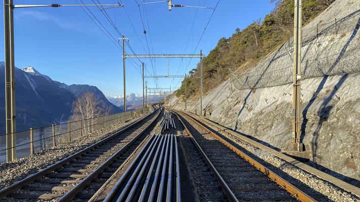 Umgebung Bahnhof Hohtenn - BLS - Lötschberger Südrampe