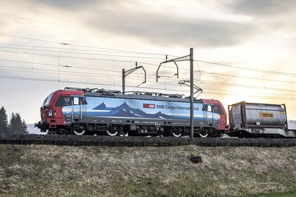 """SBB Cargo International, BR 193 463 """"Duisburg"""", Rotkreuz (27.03.2021) ©pannerrail.com"""