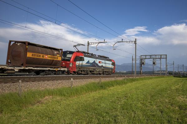 """SBB Cargo International, BR 193 464 """"Arth-Goldau"""", Mühlau (01.07.2020) ©pannerrail.com"""