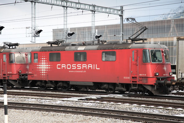 "Crossrail Re 436 111-9 ""Sara"", Frutigen (25.11.2013) ©pannerrail.com"