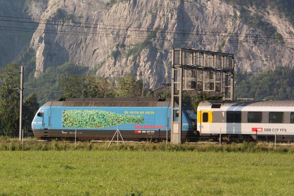 "Re 460 071-4 ""Glas bleibt Glas"", Bad Ragaz, 24.06.2010 (©pannerrail.com)"