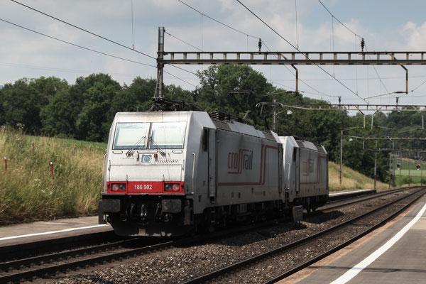 Crossrail, BR 186 902, Mühlau (21.06.2014) ©pannerrail.com