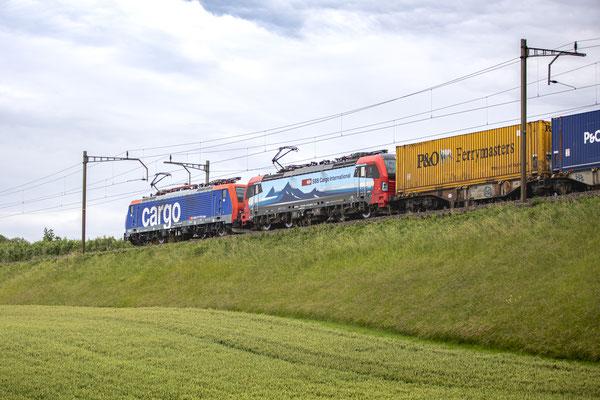 "SBB Cargo International, BR 193 474 ""Mendrisio"", Sins (01.07.2020) ©pannerrail.com"
