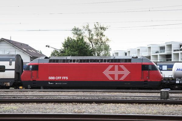 """Re 460 009-4 """"Le Jet d'eau"""", Rotkreuz, 06.09.2013 (©pannerrail.com)"""