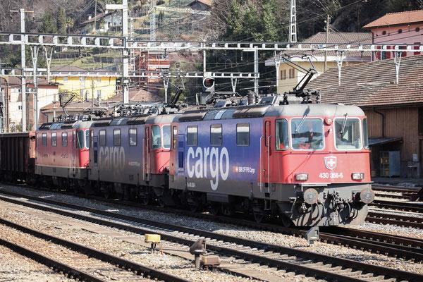Re 4/4, 11356 (430 356-6 Cargo), Bellinzona (12.03.2014) ©pannerrail.com