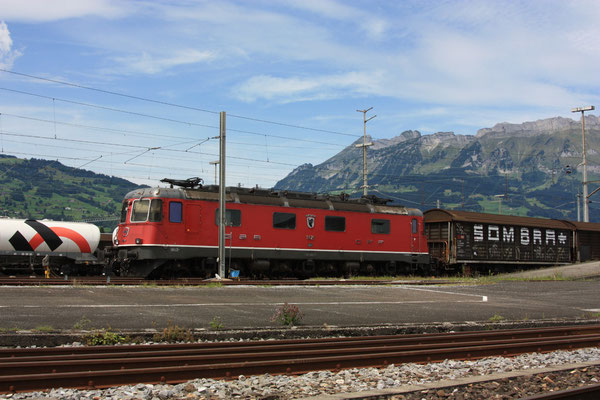 "Re 6/6 11629 ""Interlaken"", Buchs (06.08.2011) ©pannerrail.com"