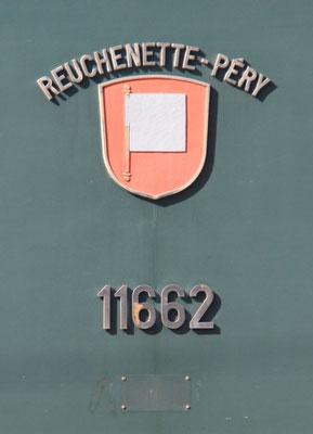 Re 6/6 Reuchenette-Péry Gemeindewappen ©pannerrail.com