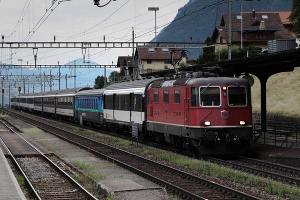 Re 4/4, 11303, Amsteg-Silenen (03.08.2013) ©pannerrail.com