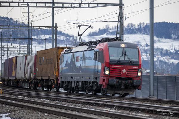 "SBB Cargo International, BR 193 477 ""Fulda"", Immensee (17.02.2021) ©pannerrail.com"