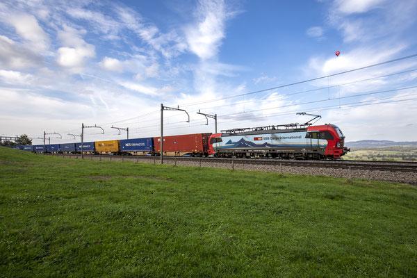 "SBB Cargo International, BR 193 466 ""Bellinzona"", Mühlau (12.10.2020) ©pannerrail.com"