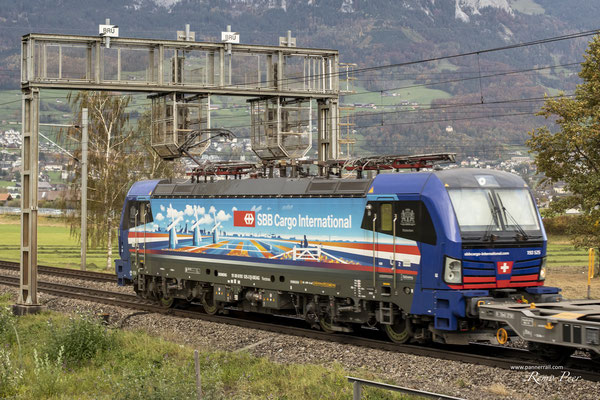 """SBB Cargo International, BR 193 525 """"Rotterdam"""", Brunnen (26.10.2020) ©pannerrail.com"""