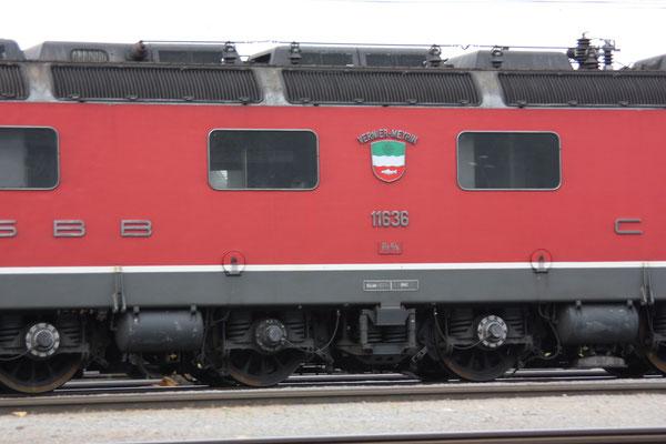 """Re 6/6 11636 """"Vernier-Meyrin"""", Rotkreuz (10.06.2011) ©pannerrail.com"""