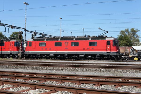 """Re 6/6 11683 """"Amsteg-Silenen"""", Rotkreuz (05.09.2013) ©pannerrail.com"""
