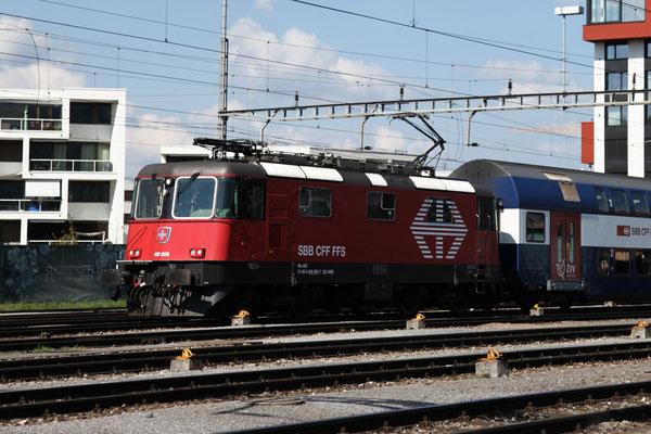 Re 4/4, 11205 (420 205-7 LION), Rotkreuz (10.08.2013) ©pannerrail.com
