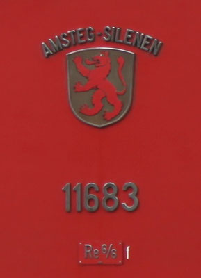 Re 6/6 Amsteg-Silenen Gemeindewappen ©pannerrail.com