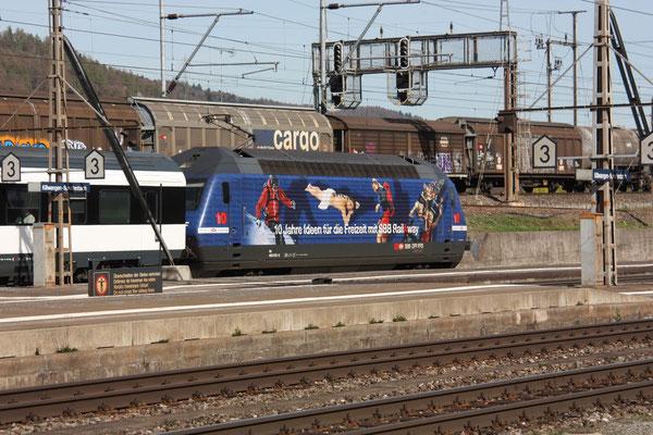 """Re 460 050-8 """"Rail Away"""", Killwangen, 03.06.2011 (©pannerrail.com)"""