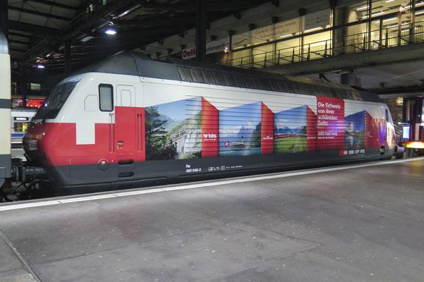 "Re 460 048-2 ""RailAway"", Luzern (16.12.2014) ©pannerrail.com"