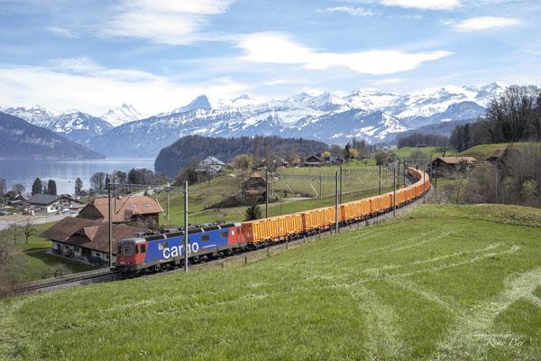 """Re 620 076 """"Zurzach"""", Einigen (01.04.2021) ©pannerrail.com"""