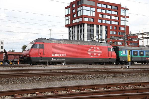 """Re 460 025-0 """"Striegel"""", Rotkreuz, 11.09.2013 (©pannerrail.com)"""