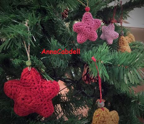 Estrellas para árbol de Navidad.