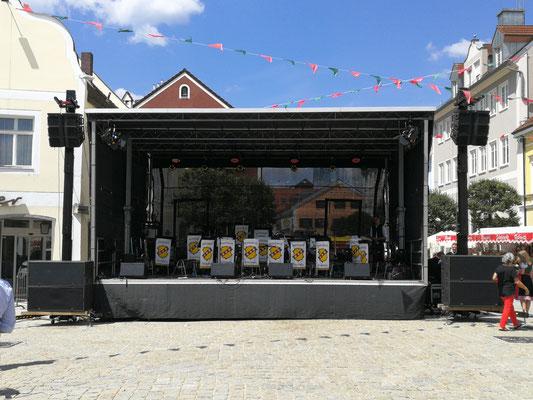 Die Bühne vom Kelheimer Kreisstadtfest