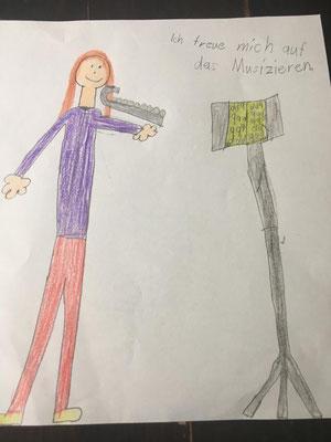 """Mia (Bläserbande): """"Ich freue mich auf das Musizieren!"""""""