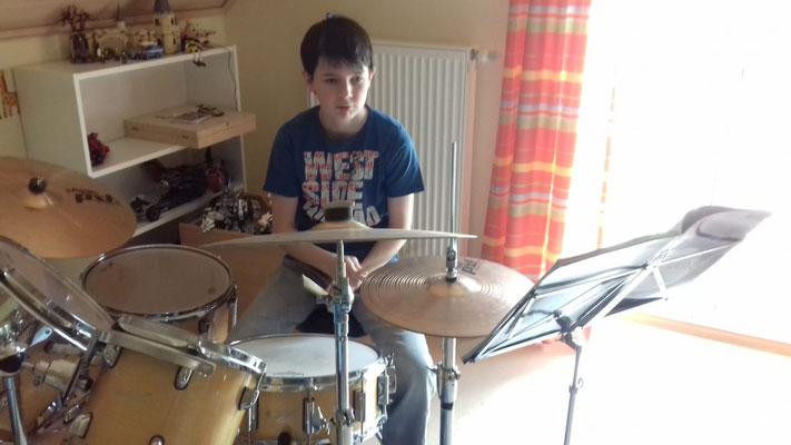 """Michael (Jugendkapelle): """"Ich freue mich darauf, wenn wir wieder neue Lieder proben können!""""; Foto: C. Achhammer"""