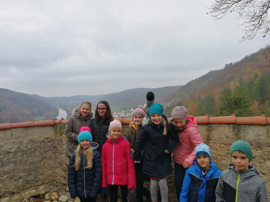 Bläserklassenausflug nach Schloss Prunn; Foto: S. Perzl