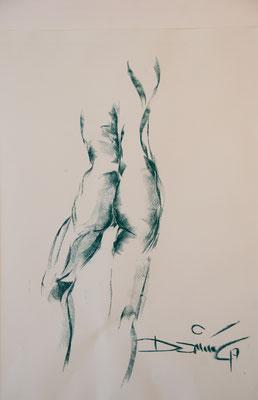 stehender Rückenakt - Pastellzeichnung - 850€