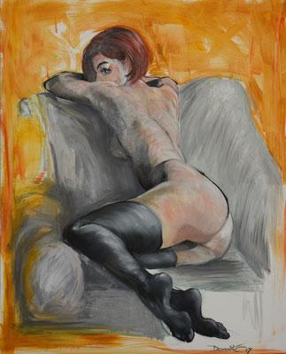 80x100 Gemälde Öl auf Leinwand