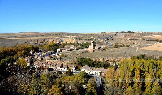 Eglise de Vera Cruz  depuis l'Alcázar de Segovia