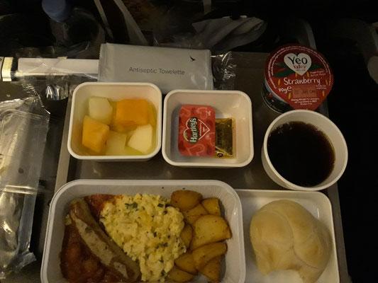 Le petit-déjeuner  Cathay Pacific