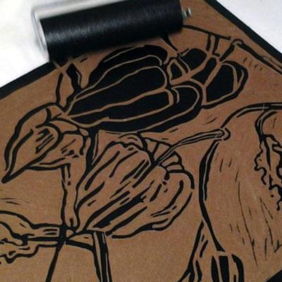 Linolschnitt und Linoldruck lernen