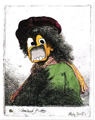 Rembrandt, aufgebracht (Kerstin Hain)