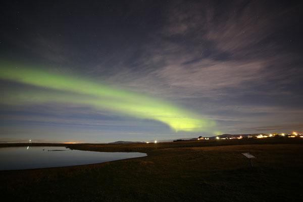 Seltjarnarnes Aurora Borealis 19 Settembre 2013 - TM. 22,30