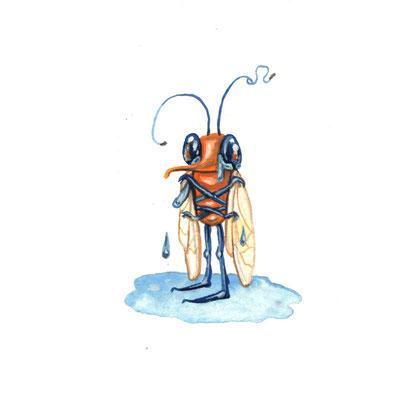 Day 23 - Sadness Bug (June Bug Drawing Challenge)