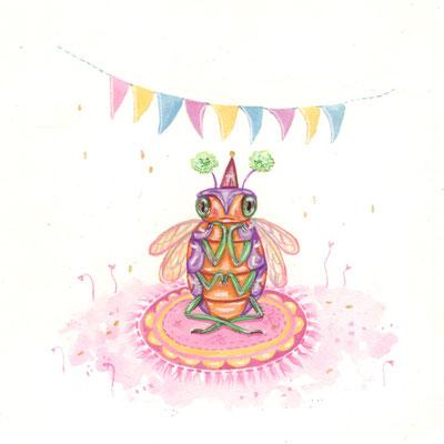 Day 3 - Pastel Bug (June Bug Drawing Challenge)