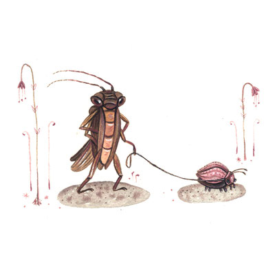 Day 22 - Bug & Friend (June Bug Drawing Challenge)