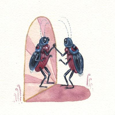 Day 7 - Twin Bugs (June Bug Drawing Challenge)