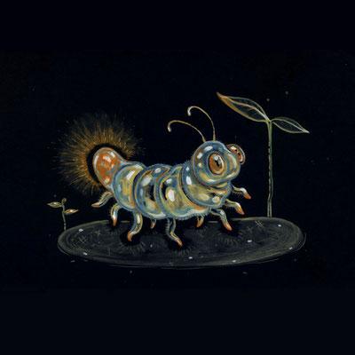 Day 8 - Glowing Bug (June Bug Drawing Challenge)