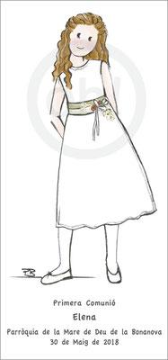 Modelo: Elena Técnica: Acuarela. . Formato 7x15cm. Tipografía: 2