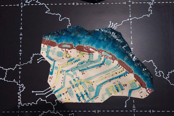 Katrin Leitner, Keramikobjekt, GIS-Tectonicplate 01