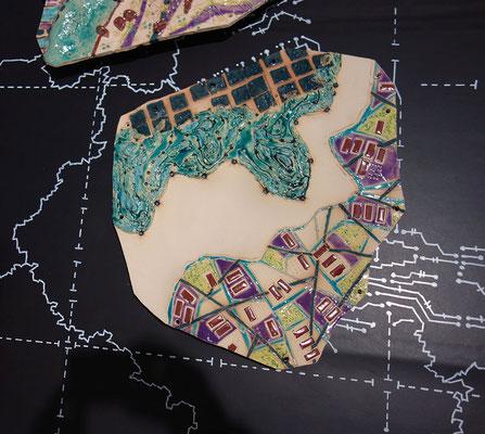 Katrin Leitner, Keramikobjekt, GIS-Tectonicplate 02