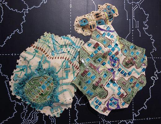 Katrin Leitner, Keramikobjekt, GIS-Tectonicplate 04