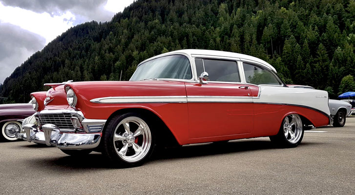 Mieten US Cars, Chevrolet Bel Air 1956-Amerikanische Autos, Chevy, Schweiz, Oldtimer, Hochzeit