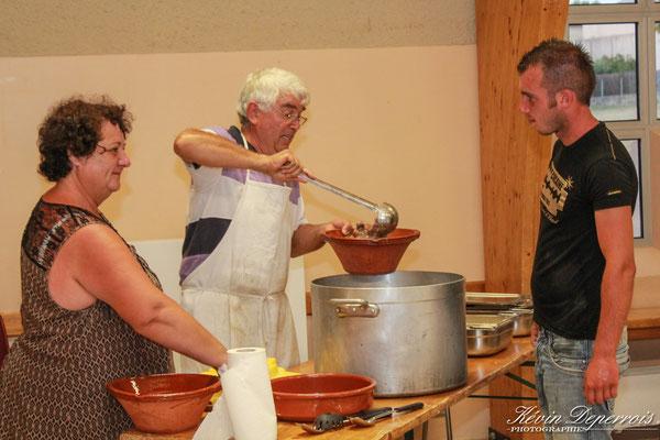 Les cuisiniers au service