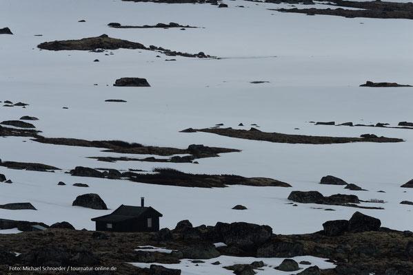 Die Gletscher schliffen das Gebirge ab.